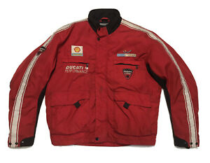 Ducati Corse Moto Sport Racing Jacket with Zip Out Liner Mens Size 2XL
