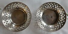 TWO QUADRUPLE PLATE SILVER NUT DISHES