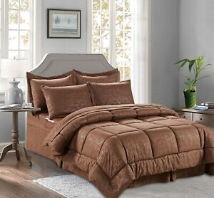 8-Piece Bamboo Design Bed-in-a-Bag Comforter Set All Color , All Size