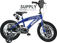 "Dino Bikes 16"" Inch BMX Blue Kids Children Unisex Speed Bike Bicycle Xmas Gift"