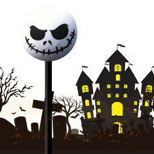 1x Halloween Skull Car Antenna Topper Aerial Ball Decoration Toy White 45mm