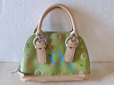 "XOXO  Faux Leather Multi Colored  Bag Handbag  VERY CUTE 9"" x  10"" ZIPPER"