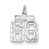 Sterling Silver Small #68 Charm QSN68