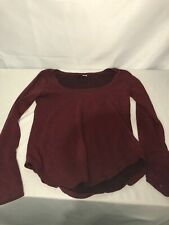 BDG Maroon Red Long Sleeve Off Neck Shoulder Size Small