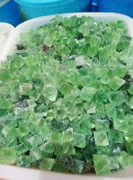 1/2lb Beautiful Green Fluorite Octahedron Crystals - LARGE - Bulk Lot  10-20mm