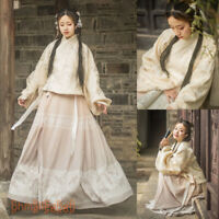 Women's Dress Hanfu Ancient Costume Tops Skirt Cosplay Dance Retro Traditional