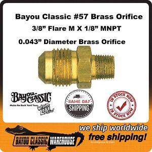 Bayou Classic 5235 Brass Orifice #57 for Single LP Propane Gas Burners