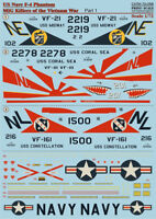 Print Scale 72-058 Decal for US Navy F-4 Phantom 1:72 WET Decal