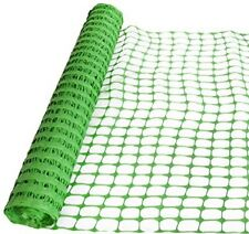 """Safety Fence, Snow Fencing, Deer Netting 39""""98' Temporary, Plastic Barrier Green"""