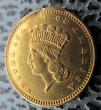1862 22ct gold  1 dollar coin