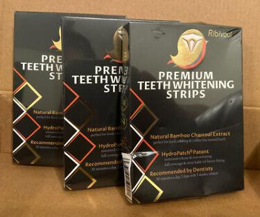 Ribivaul Premium Teeth Whitening Strips 3 Boxes New In Plastic