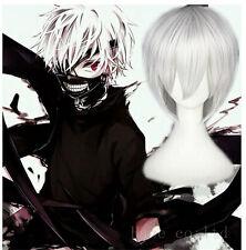 Japan Anime Tokyo Ghoul Kaneki Ken Cosplay Wig Silver Convention FR*