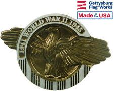 World War II Aluminum Grave Marker, Cemetery Memorial Flag Holder, Made In USA