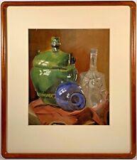 Listed Artist Hugó Scheiber (1873-1950) Signed Still Life Pastel Painting
