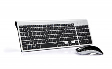 TopMate KM9001 Ensembles Clavier et Souris Sans Fil pour PC et ordinateur portab