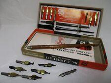 Vintage Hunt Mfg. Co. Speedball Eberhard Faber Dip Pen Lot Calligraphy Drawing