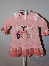 Nanette Kids Girls Pink Sweater Top Light Sz 12 Months My Heart Belongs to Daddy