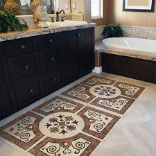 TA00009 Tappeto Adesivo in PVC per pavimento cucina bagno sala Stickers design
