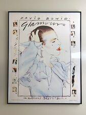 David Bowie Poster Glamour Original Vintage Rare 1980 Edward Bell Eighties Mint!