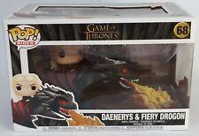 Game Of Thrones Daenerys & Fiery Drogon Funko Pop Vinyl 68 New