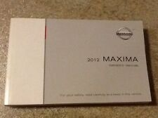 2012 12  Nissan Maxima Owners Manual