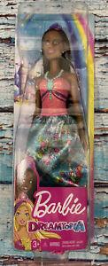 New Dreamtopia Barbie Princess African American Pink Hair Streak & Tiara NIB