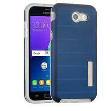 For Samsung Galaxy Amp/Express Prime 2/J3(2017)/Eclipse Grayish Blue Hybrid Case