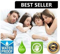 Waterproof Mattress Encasement Zippered Bed Bug Hypoallergenic Protector Cover