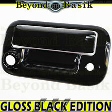 2004-2014 FORD F150 GLOSS BLACK Tailgate Handle Cover W/Camera Hole Overlay trim