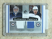 13-14 UD SPGU SP Game Used Authentic Fabrics Dual ONDREJ PAVELEC / EVANDER KANE