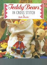 TEDDY BEARS IN CROSS STITCH BT JULIE HASLER