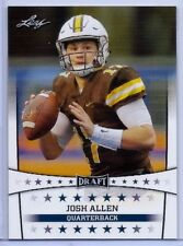 """NEW"" JOSH ALLEN 2018 LEAF DRAFT ROOKIE CARD #5! WYOMING / BUFFALO BILLS!"