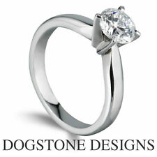 Solitaire Excellent Cut Round Fine Diamond Rings