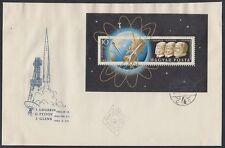 Ungarn Hungary 1962 FDC Bl.33 A Weltraum Space Gagarin Titov Glenn [sr2810]