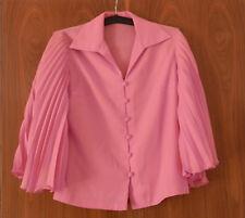 Festliche Bluse Pink Gr.40 mit Fledermausärmeln