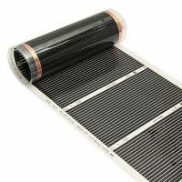 50CMx3M 220V Far Infrared Floor Heating Film Crystal Carbon Fiber Underfloor Hea