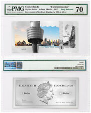 2017 Cook Is Skyline Sydney Foil Note 5 g Silver $1 PMG Gem Unc 70 ER SKU48749