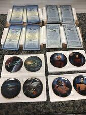 Lot Of 8 Star Trek Mini Plates COA Boxed Hamilton