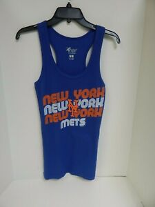 New York Mets WOMENS Tank Blue/Orange GIII 4her Sample Size Medium