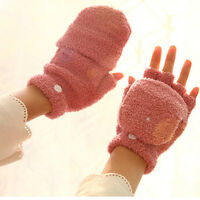 Women's Lady Stylish Winter Thermal Insulated Fleece Gloves Fashion 1pair