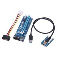 New USB3.0 PCI-E PCI Express 1x to 16x Extender Riser Card Adapter Powered Cable