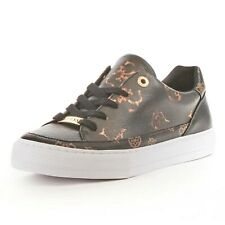 GUESS WOMEN'S LUSEY 4G LOGO PEONY TRAINER BLACK *SAME DAY DISPATCH*