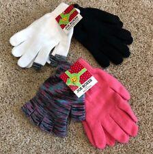 Nwt Girls Black White Multi Color Pink Joe Boxer Texting Gloves 4 Pair