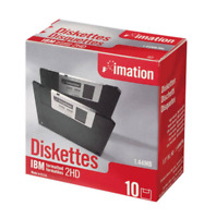 """Imation 3.5"""" Floppy Disks Diskettes 10 Pack IBM Formatted 1.44MB  2HD New Sealed"""