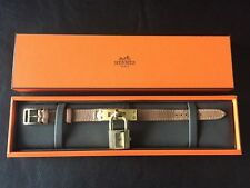 Rare Hermes Gold Plated Kelly Watch