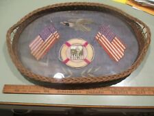 c1898 US NAVY Embroidered Silk Eagle Flags Spanish American War Presentation