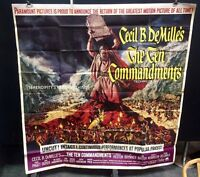 The Ten Commandments - Original X-large 6-Sheet Movie Poster - Charlton Heston