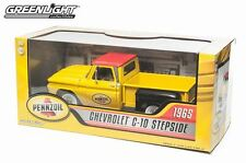 YELLOW 1965 CHEVY C-10 STEPSIDE GREENLIGHT 1:18 SCALE DIECAST METAL MODEL TRUCK