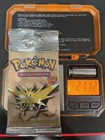 Pokemon Fossil Booster Pack Zapdos WOTC 1999 Factory Sealed HEAVY 21.12!