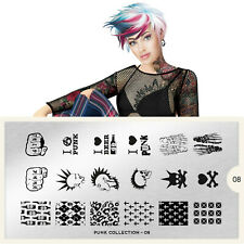 Moyou-London Nail Art Image Stamping Plate Collection Punk 08